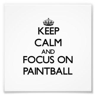 Guarde la calma y el foco en Paintball Arte Fotográfico