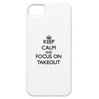 Guarde la calma y el foco en para llevar iPhone 5 carcasa