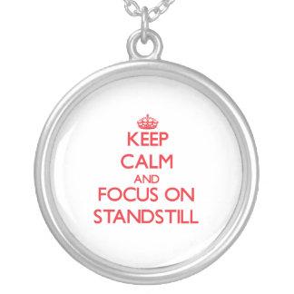 Guarde la calma y el foco en parada pendientes