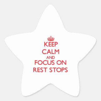 Guarde la calma y el foco en paradas del resto