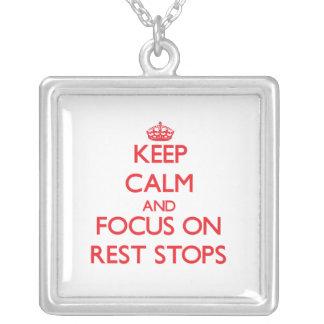 Guarde la calma y el foco en paradas del resto pendiente personalizado