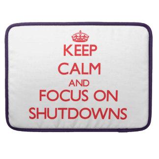 Guarde la calma y el foco en paradas funda para macbooks