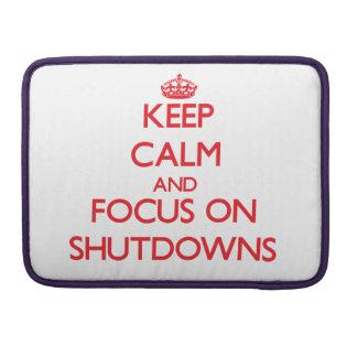 Guarde la calma y el foco en paradas fundas para macbook pro