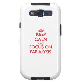 guarde la calma Y EL FOCO EN parálisis Galaxy SIII Fundas