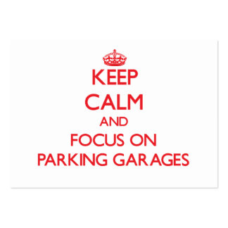 Guarde la calma y el foco en parkinges tarjetas personales