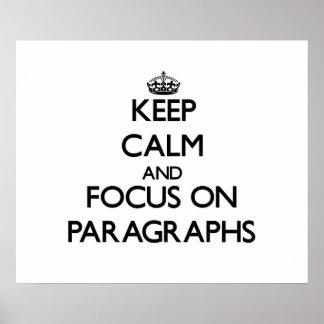 Guarde la calma y el foco en párrafos