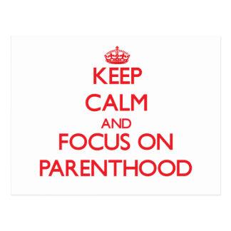 guarde la calma Y EL FOCO EN paternidad