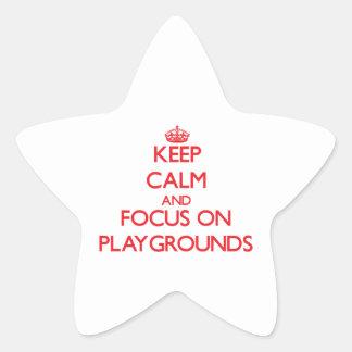 Guarde la calma y el foco en patios