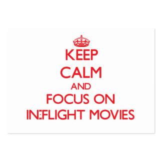 Guarde la calma y el foco en películas de aviones tarjeta personal