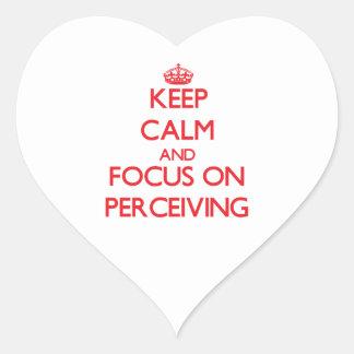 Guarde la calma y el foco en percibir pegatinas corazon personalizadas