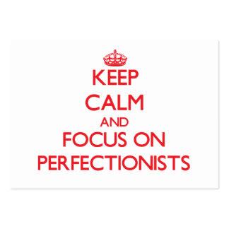 Guarde la calma y el foco en perfeccionistas tarjeta de negocio