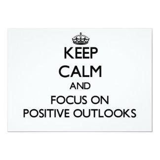 Guarde la calma y el foco en perspectivas invitaciones personales