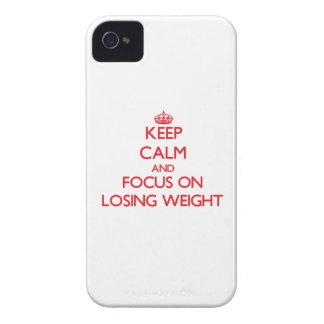Guarde la calma y el foco en peso perdidoso