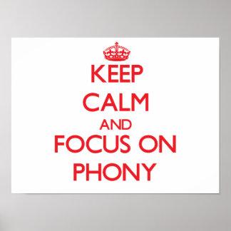 Guarde la calma y el foco en Phony