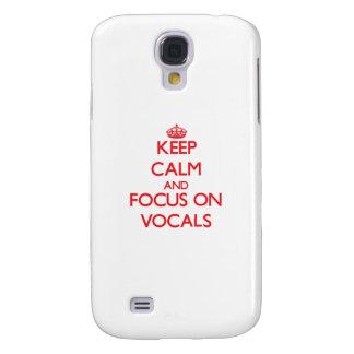 Guarde la calma y el foco en pieza vocal