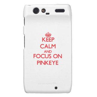 Guarde la calma y el foco en Pinkeye Motorola Droid RAZR Carcasa