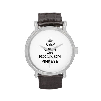 Guarde la calma y el foco en Pinkeye Reloj