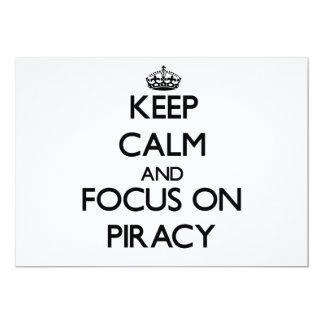 Guarde la calma y el foco en piratería comunicados personales