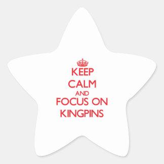 Guarde la calma y el foco en pivotes centrales calcomanías forma de estrellaes personalizadas