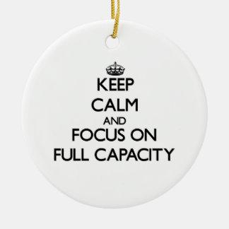 Guarde la calma y el foco en plena capacidad adorno para reyes