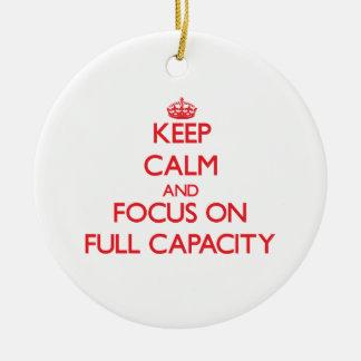 Guarde la calma y el foco en plena capacidad ornato