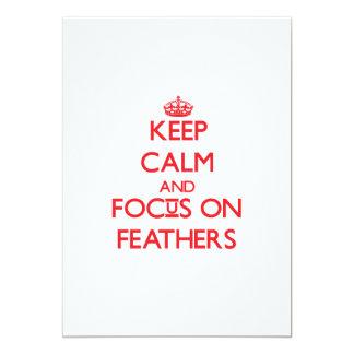 Guarde la calma y el foco en plumas anuncio personalizado