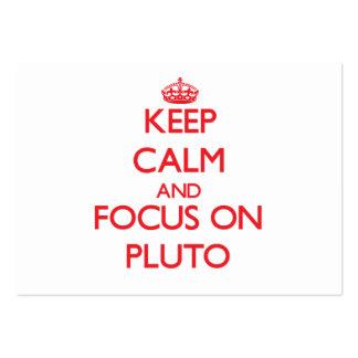 Guarde la calma y el foco en Plutón