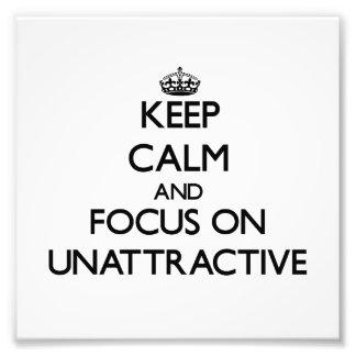 Guarde la calma y el foco en poco atractivo