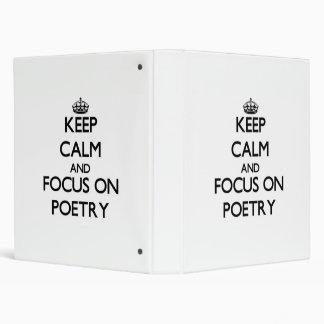 Guarde la calma y el foco en poesía