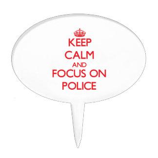 Guarde la calma y el foco en policía