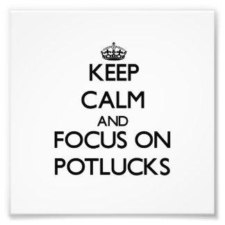 Guarde la calma y el foco en Potlucks Arte Con Fotos