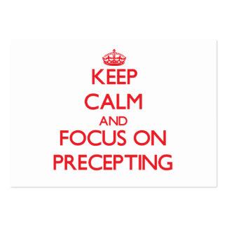 Guarde la calma y el foco en Precepting