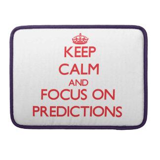 Guarde la calma y el foco en predicciones funda para macbook pro