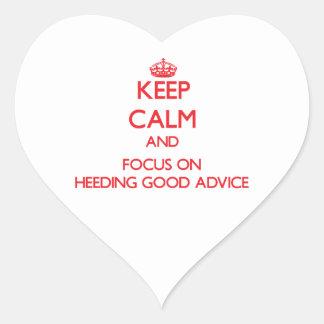 Guarde la calma y el foco en prestar atención a bu