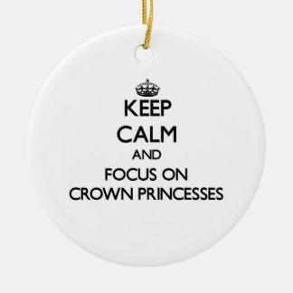 Guarde la calma y el foco en Princesas Reales Ornamento De Reyes Magos