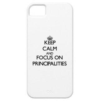 Guarde la calma y el foco en principados iPhone 5 Case-Mate carcasa