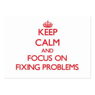 Guarde la calma y el foco en problemas de la fijac