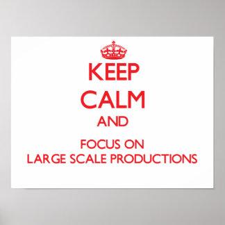 Guarde la calma y el foco en producciones del gran impresiones