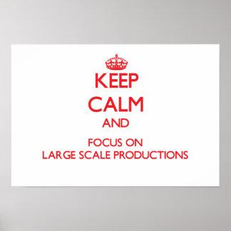 Guarde la calma y el foco en producciones del gran posters