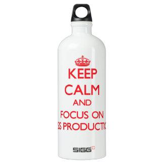Guarde la calma y el foco en producciones en masa