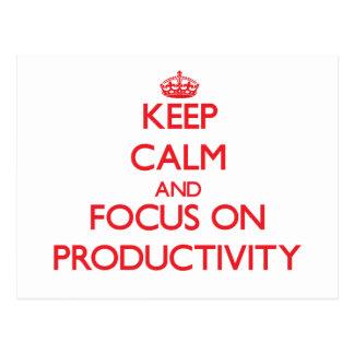 Guarde la calma y el foco en productividad