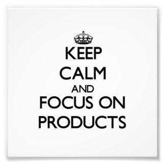 Guarde la calma y el foco en productos