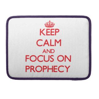Guarde la calma y el foco en profecía fundas macbook pro