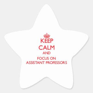 Guarde la calma y el foco en PROFESORES ADJUNTOS Colcomanias Forma De Estrellas