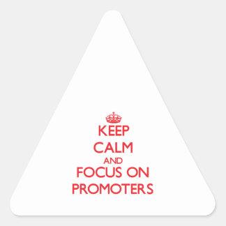 Guarde la calma y el foco en promotores
