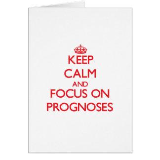 Guarde la calma y el foco en pronósticos tarjeton