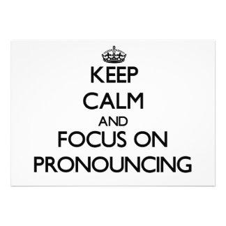 Guarde la calma y el foco en pronunciar invitacion personalizada