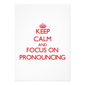 Guarde la calma y el foco en pronunciar comunicado