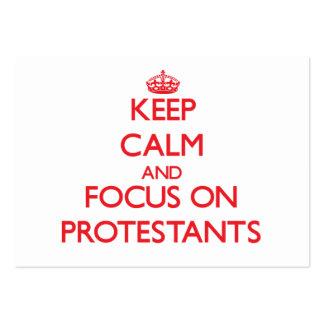 Guarde la calma y el foco en Protestants