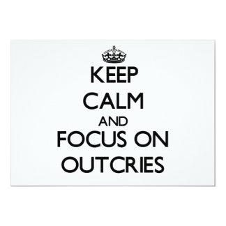 Guarde la calma y el foco en protestas invitación 12,7 x 17,8 cm